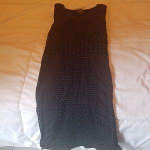Bebe sparling black sleeveless dress Small